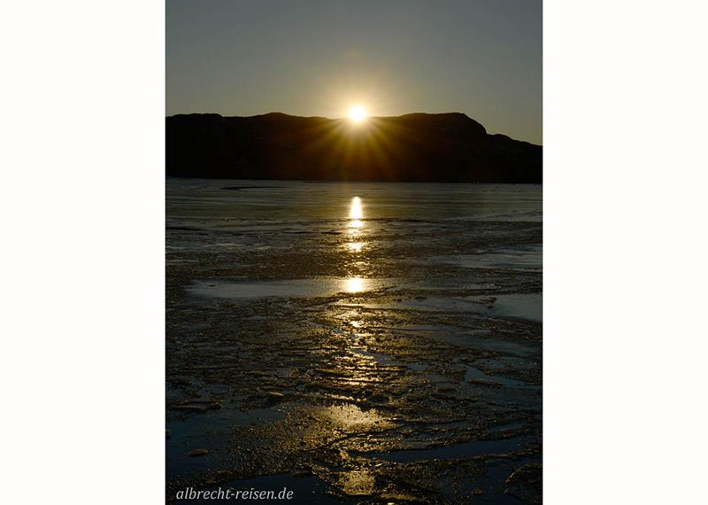 Sonnenuntergang bei Narsarsuaq