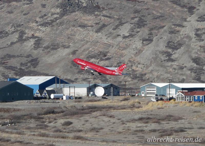 Start der Air Greenland, Kangerlussuaq