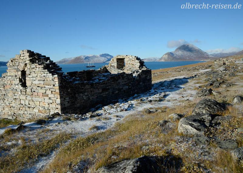 Hvalsey: Ruine der Kirche, in der 1408 die letzte Trauung stattfand